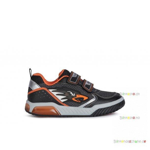 GEOX INEK J159CB Blinkesko Black/Orange