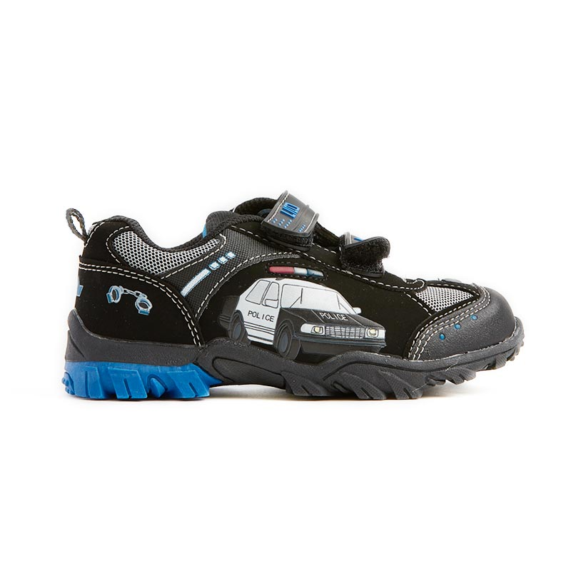 c265b07712f LICO Chief 300032 Blinkesko Black/Blue/Silver - Gutter sko med lys -  Blinkesko.no