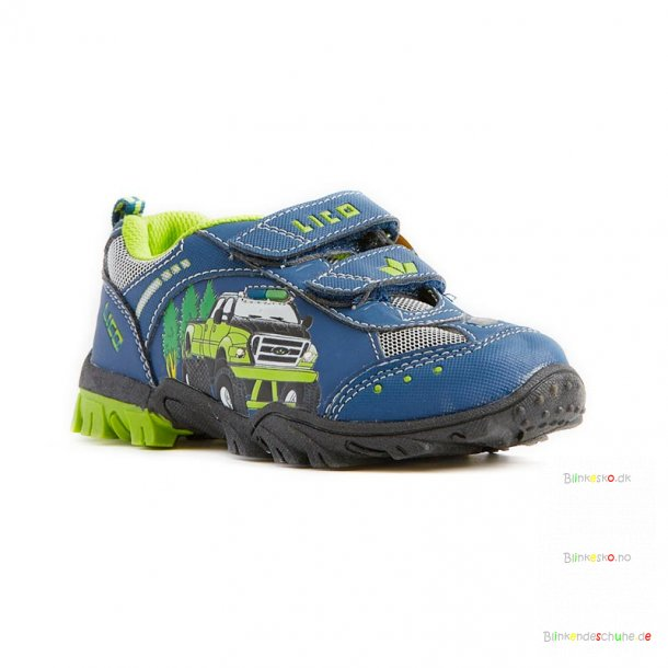 LICO Monstertruck 300143 Blinkesko Navy/Lime
