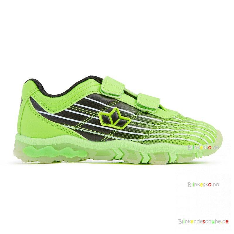 672a95b071a LICO Neon 300178 Blinkesko Lime/Black - Gutter sko med lys - Blinkesko.no