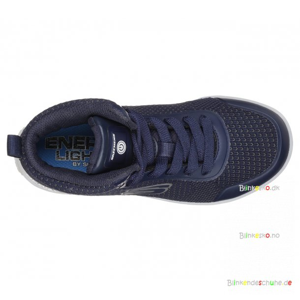 SKECHERS Boys Energy LED Lights 90608 Blinke Sneakers Navy