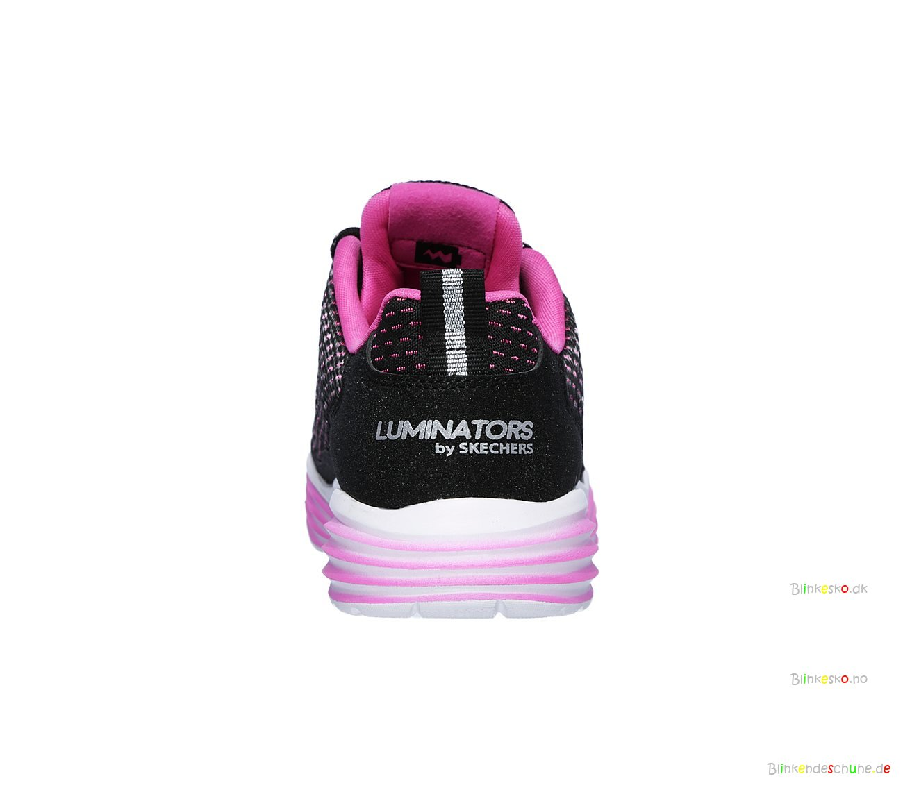 SKECHERS Luminators Luxe 20100 Led Schuhe BlackPink