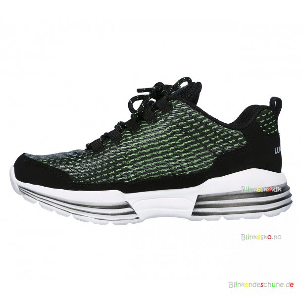 SKECHERS Luminators Luxe 90370 Ledlyssko Black/Lime