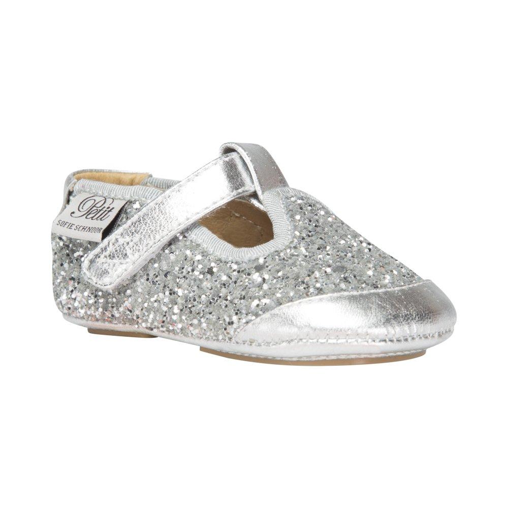 a67a3751340 Sofie Schnoor P852C Baby Indesko Glitter Silver - BABY SKO - Indesko.dk