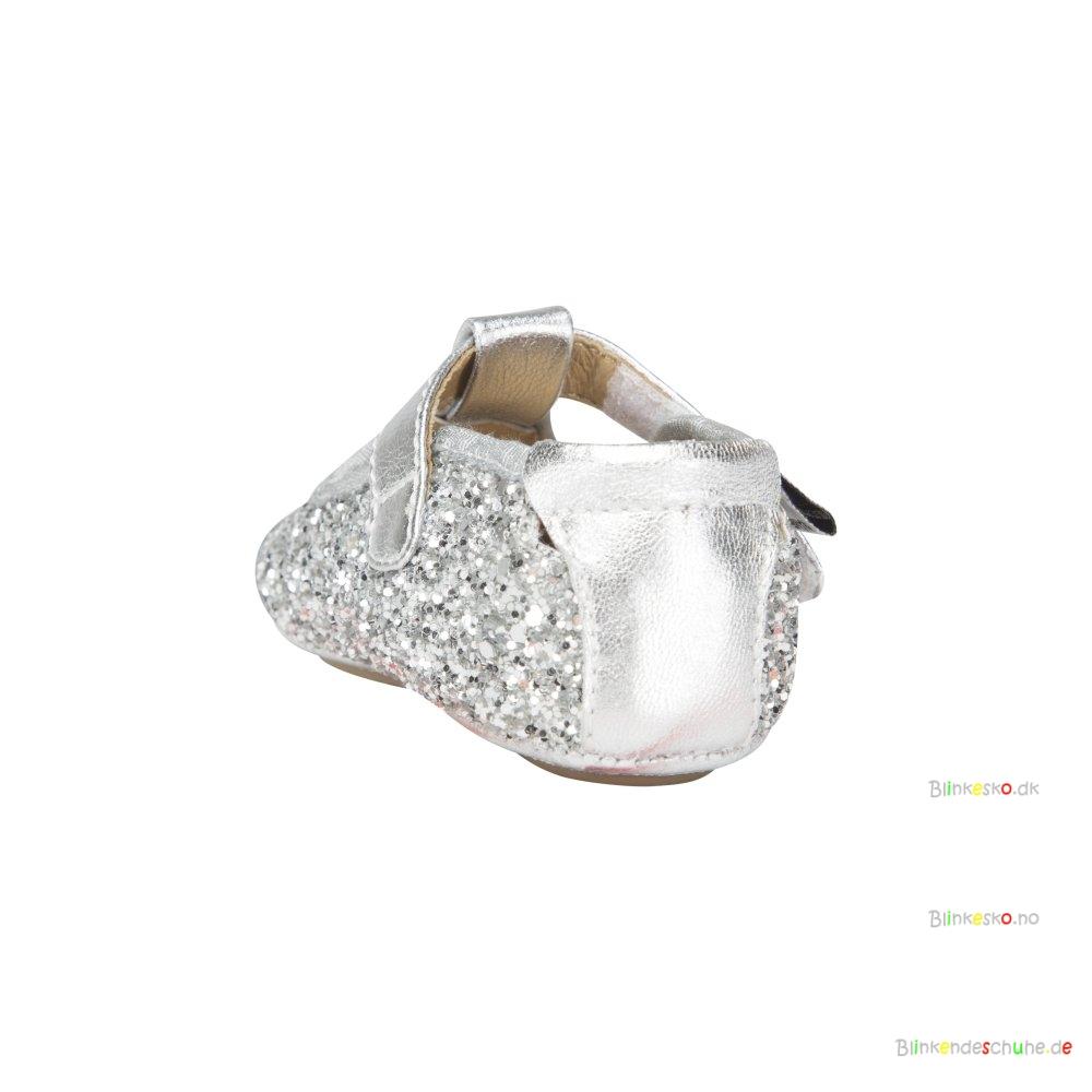 2a753f0d Sofie Schnoor P852C Baby Indesko Glitter Silver - BABY SKO - Blinkesko.dk
