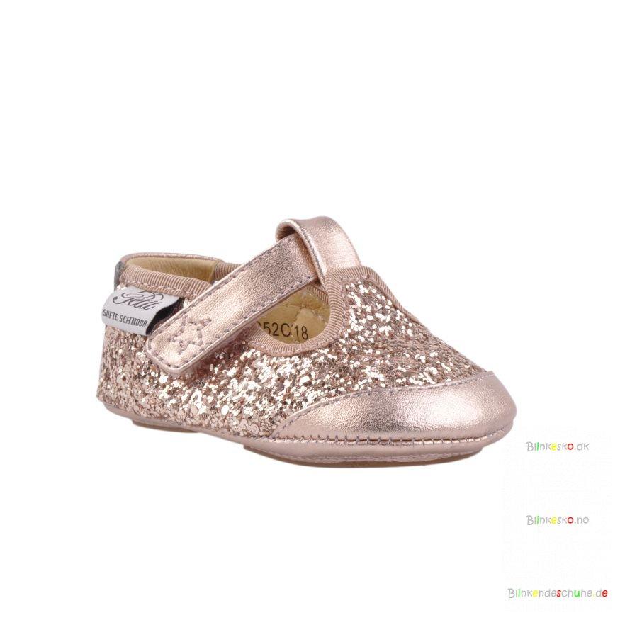 38b4714f9fc3 Sofie Schnoor P852C Baby Indesko Glitter Rosegold - BABY SKO - Blinkesko.dk