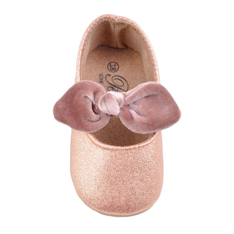 cd4a7d1c191 Sofie Schnoor P183615 Ballerina Baby Indesko Glitter Peach - Indesko -  Indesko.dk