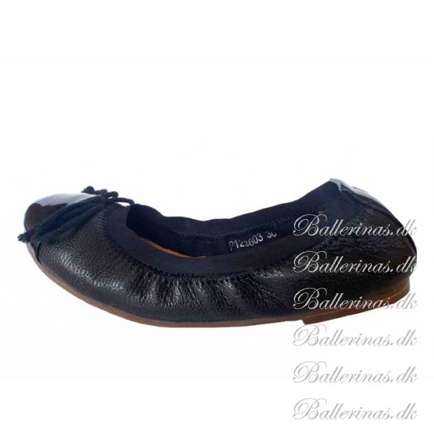 c5282323aa0 Sofie Schnoor Læder Ballerina Sko Black P125C - Ballerina Sko - Blinkesko.dk