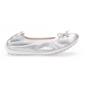 8a0018ddde3 GEOX PIUMA J42B0D Ballerina Sko Silver
