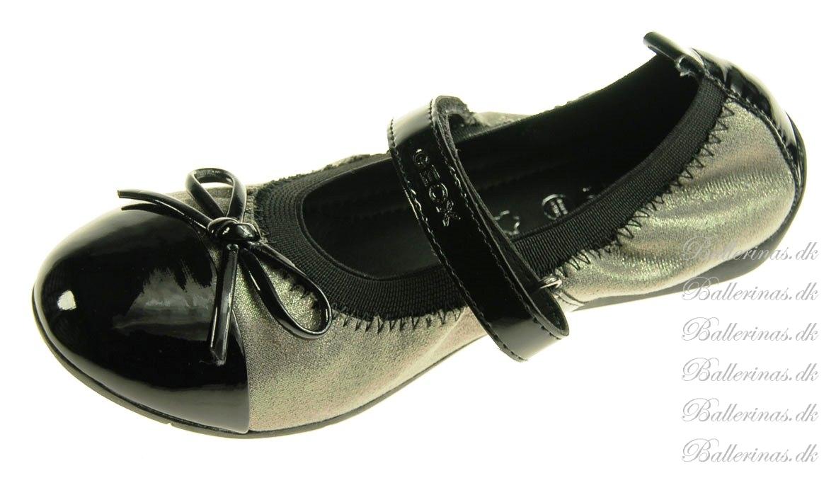 geox piuma ballerina sko gr glitter med lak b nd og snude ballerina sko. Black Bedroom Furniture Sets. Home Design Ideas