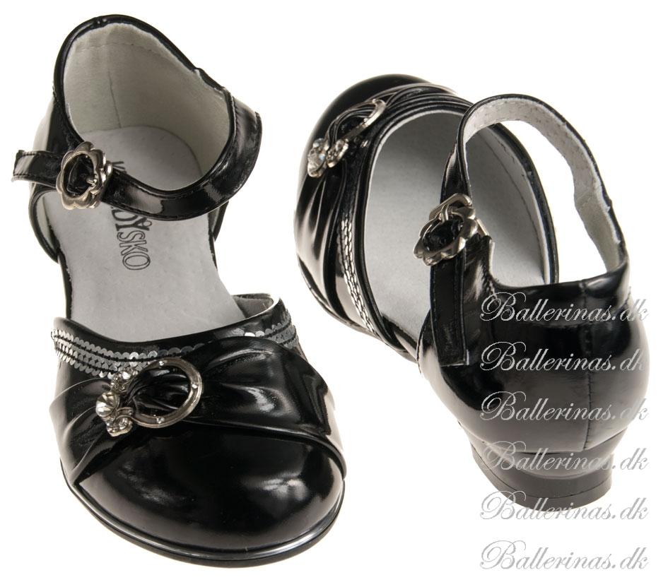Ballerina Schuhe Kennedy Swartz Mit Silber Dekoration