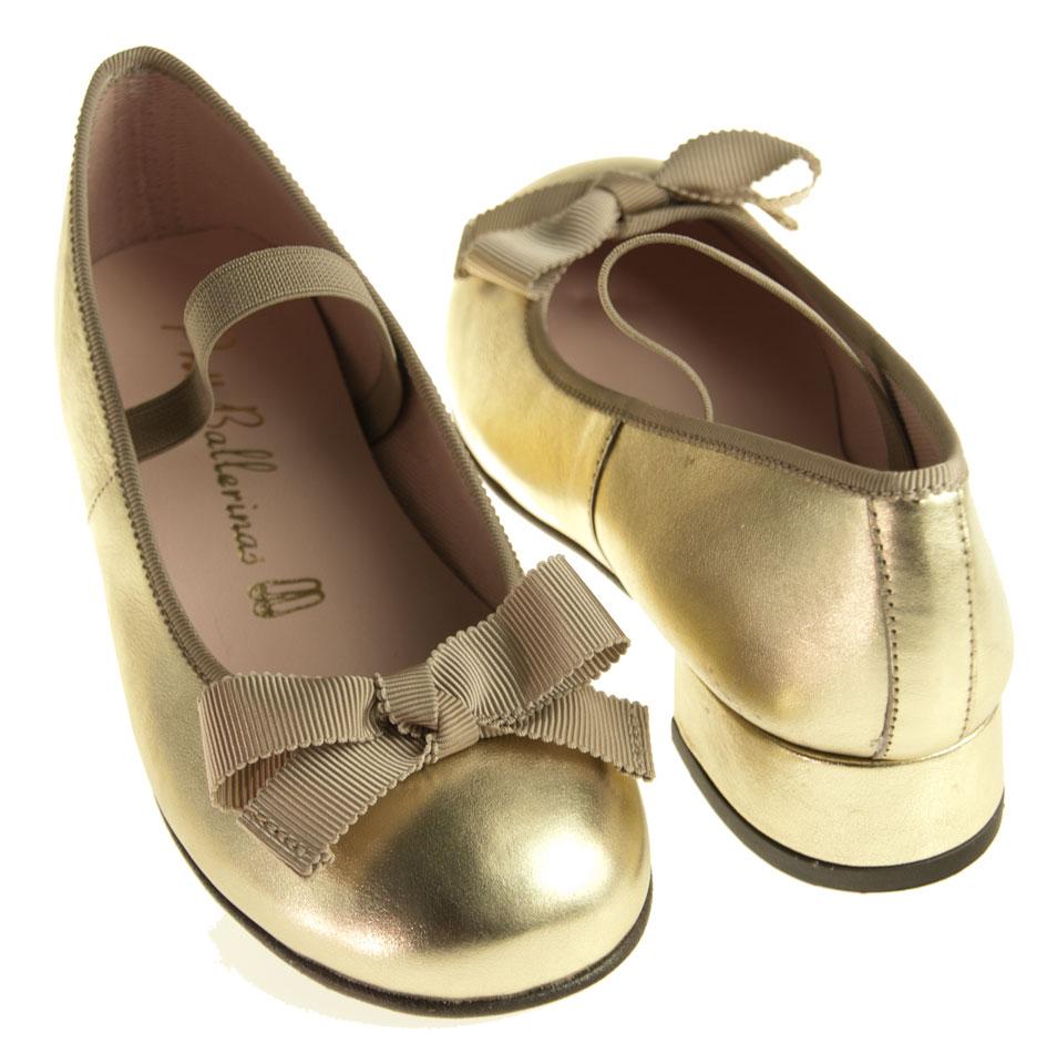 pretty ballerinas gold ballerinas f r kinder. Black Bedroom Furniture Sets. Home Design Ideas