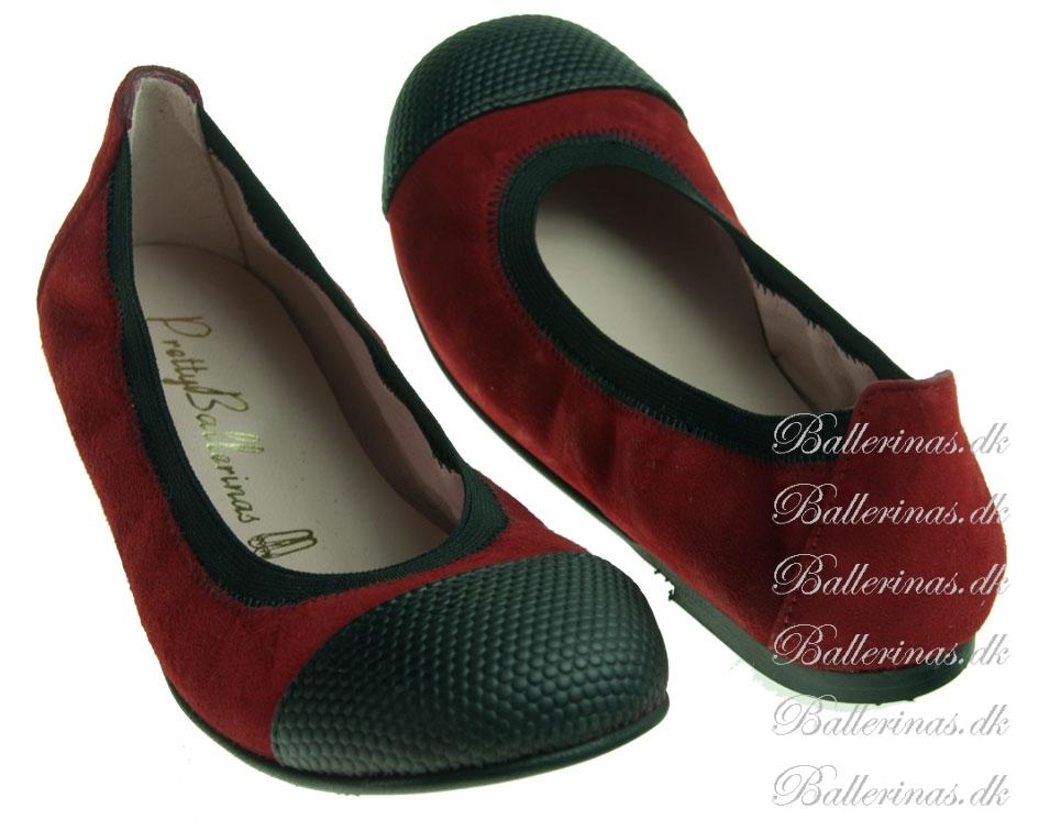pretty ballerinas rot schwarz ballerinas f r kinder. Black Bedroom Furniture Sets. Home Design Ideas