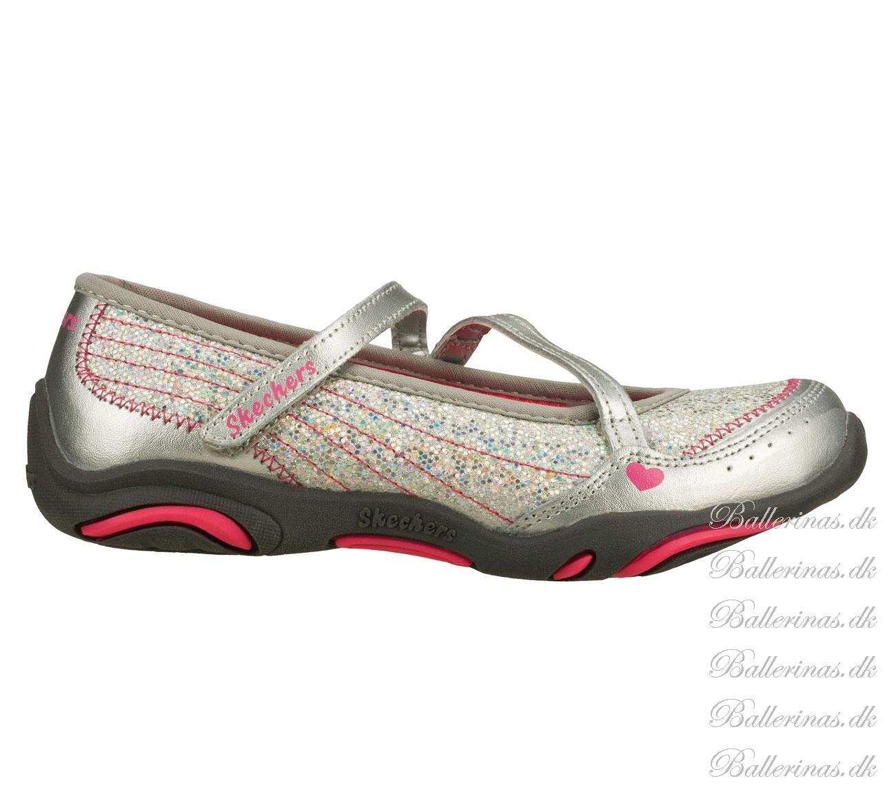 """Skechers """"Speedy Sparkler"""" Ballerina Schuhe Silber Glitter ..."""