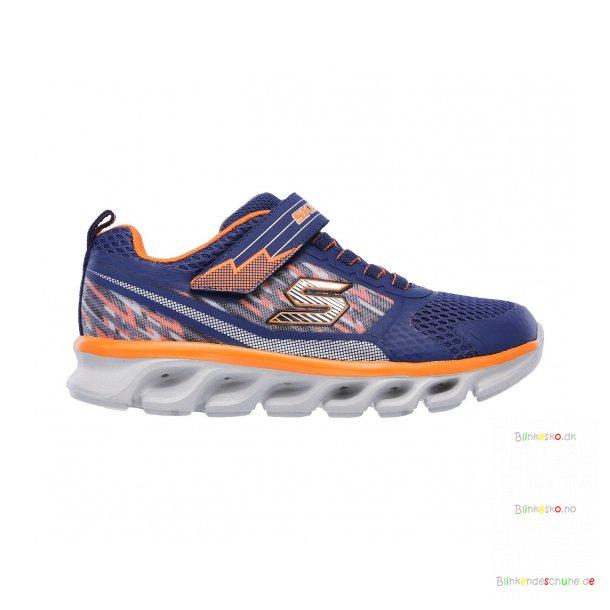 reputable site cd901 34f02 Skechers TREMBLERS Blinkende Schuhe 90581 NVY/ORNG